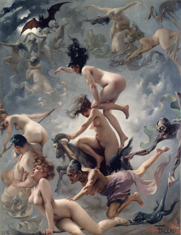 Luis Ricardo Falero (Spanish, 1851-1896) Faust's Vision (1878) Oil on canvas 57 by 46 1/2 in. Private Collection