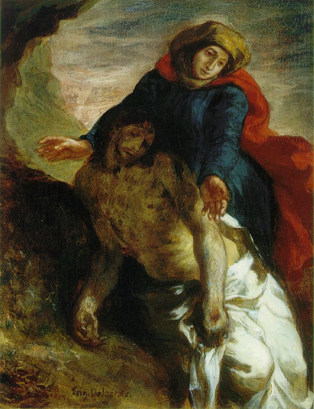 Eugène Delacroix (French, 1798-1863) Pietà (c. 1850) Oil on canvas. Nasjonalgalleriet, Oslo.