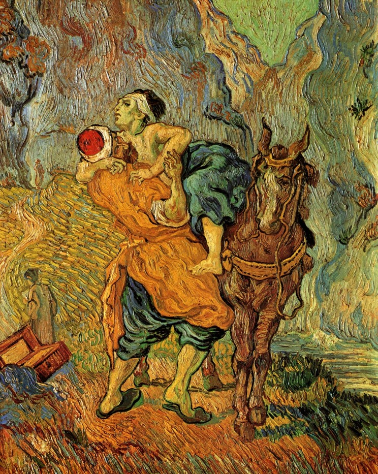 Vincent Van Gogh (1853-1890) The Good Samaritan, after Delacroix. Oil on canvas.